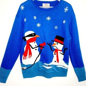 Daisy Boutique Holiday Melting Snowman Sweater M